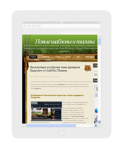 В iPad вертикально 768 x 1024: