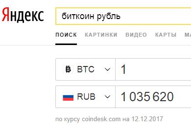 Курс биткоина и рубля в 2017 году - декабрь месяц
