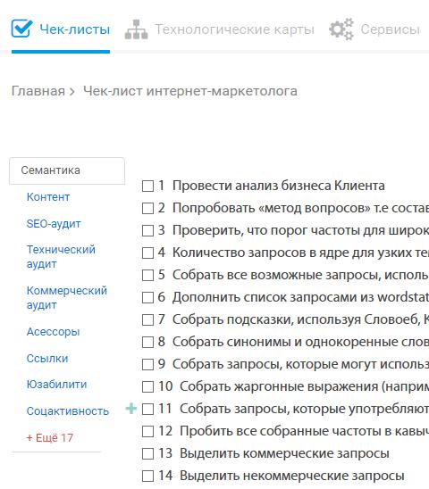 seo сервисы анализа сайта