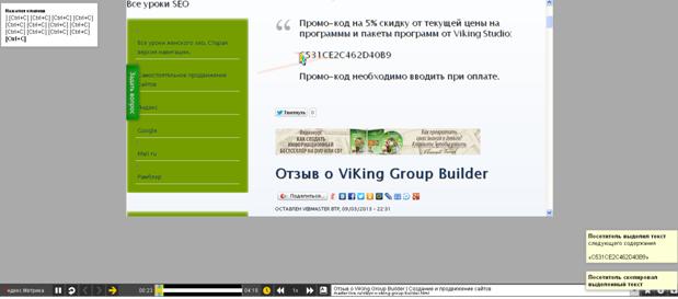 Скрин видео вебвизора