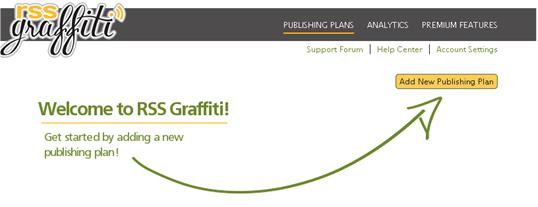 Подключение приложения RSS Graffiti